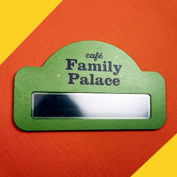 Бейдж металлический<br> Family Palace